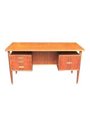 Mid Century Danish Modern Floating Top Teak Desk by MobelFabrik for Sale in Pomona, CA
