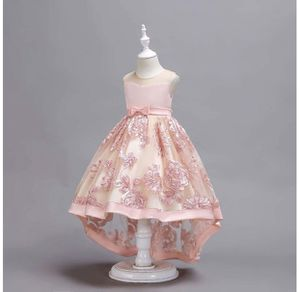 Girls Blush High Low Flower Dress 7/8 for Sale in Los Angeles, CA
