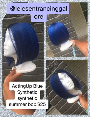 Blue synthetic wig for Sale in Baton Rouge, LA