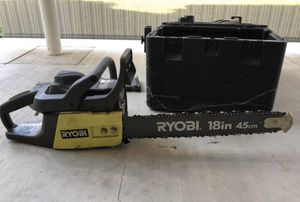 """Ryobi 18"""" 45cm gas powered chainsaw with case for Sale in Pumpkin Center, CA"""