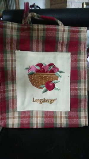 LONGABERGER CLOTH TINY TOTE ORCHARD PK HANDBAG. for Sale in Warren Park, IN
