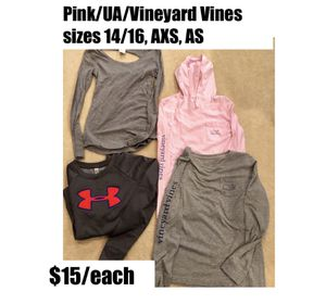 Vineyard Vines, Pink, Unser Armour tops for Sale in Germantown, MD