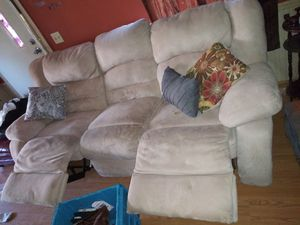 Nice sectional fully reclining loveseat and couch leather for Sale in Simpsonville, SC