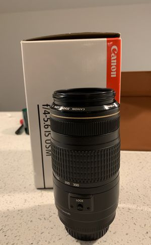 Canon EF 70-300 f/4.5-5.6 IS USM for Sale in Alexandria, VA