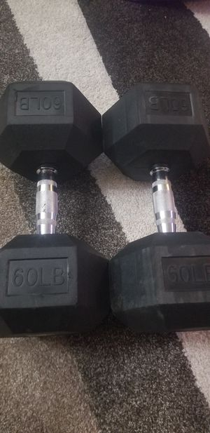60lbs rubber hex dumbbells for Sale in Alameda, CA