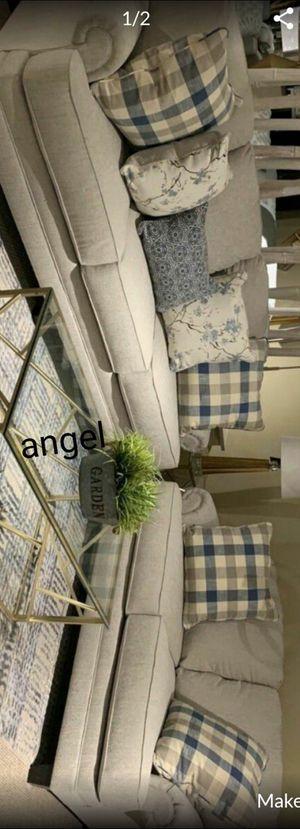Black Friday 💣Meggett Linen Living Room Set for Sale in Jessup, MD