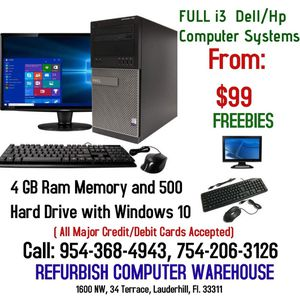 """Dell """"Intel i3"""" Computers Systems For Sale!! for Sale in Fort Lauderdale, FL"""