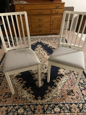Pair of white chairs for Sale in Clinton, WA