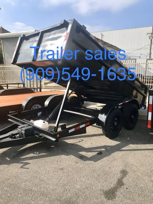 Brand new 8x10x2 Hydraulic dump trailers for Sale in Rancho Cucamonga, CA