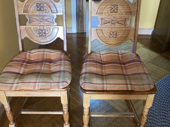 PAIR OF SOLID WOOD CHAIRS for Sale in San Francisco,  CA