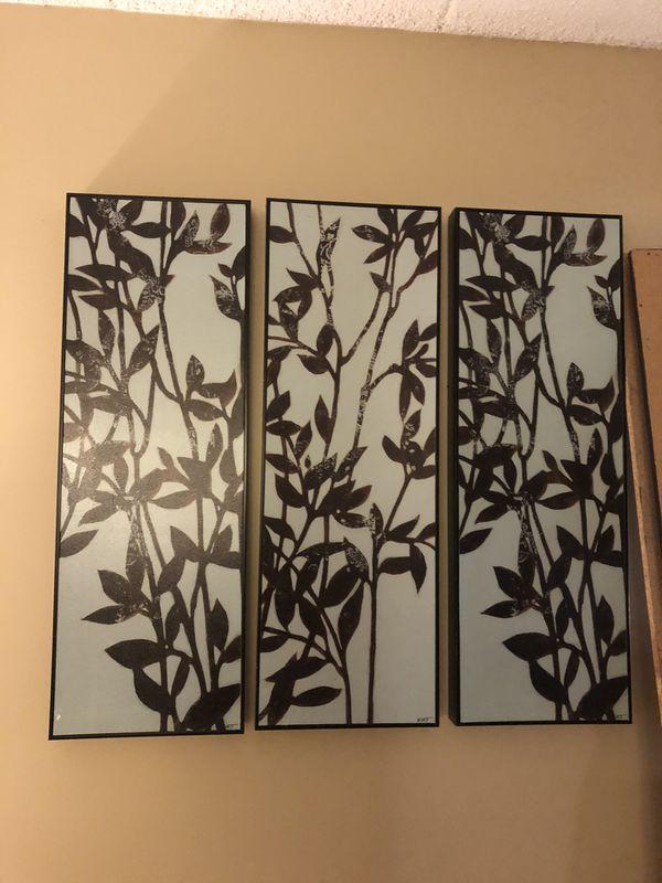 Three Matching Panels Wall Art/Prints