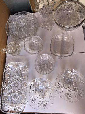 Collection of Crystal and American cut glass for Sale in Richmond, CA