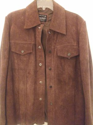 Mens genuine leather coat for Sale in Yucaipa, CA