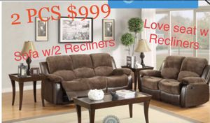 ❗️2 PCS Sofa w/2 RECLINERS and Loveseat ❗️ for Sale in Winter Haven, FL