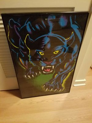 Jaguar poster with professional frame for Sale in Silver Spring, MD