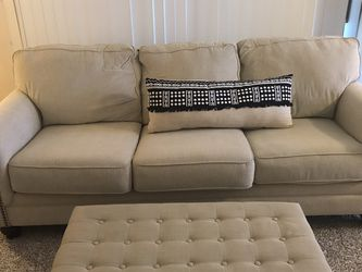 Beige 3 Cushion Sofa And Ottoman for Sale in San Diego,  CA