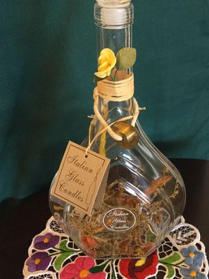 Italian Glass Bottles 🇮🇹/ Italian Glass Candles collectibles & gifts 🎁💛🎄💛🎁 for Sale in Alexandria, VA