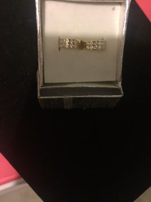 Beautiful 14K Gold and Diamond Chips Huggie Earrings for Sale in Nashville, TN