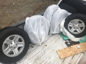 """Nokian studded snow tires 16"""" brand new 5 tires on 2014 Jeep rims great shape 200 great deal won't last long for Sale in Topsham, ME"""