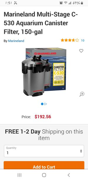 1 Marineland C530 canister filters for Sale in Glenarden, MD