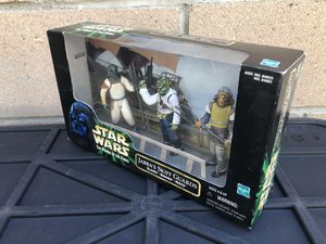 Star wars action figures(3) jabba's skiff guards collectable play set by Hasbro from 1998 for Sale in Los Angeles, CA