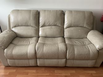 Vercelli Stone Leather Power Reclining Sofa for Sale in Hialeah,  FL