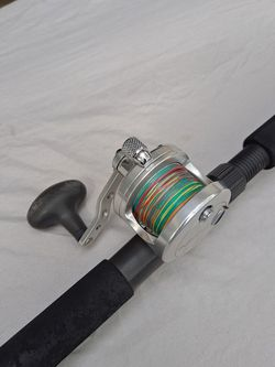 Mint Avet LEFT HAND RETRIEVE Reel With Braid And Jigging Rod for Sale in Hollywood,  FL