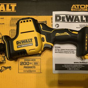 New DeWalt Atomic Series 20V DCS369 Brushless Reciprocating saw for Sale in Visalia, CA