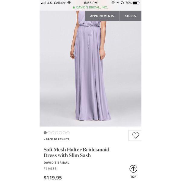 b426f9da27 David s Bridal Soft Mesh Halter Dress for Sale in Racine