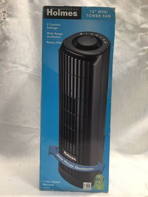 Holmes 2-Speed Oscillating Mini Tower Fan, 14-Inch for Sale in Norwalk, CA