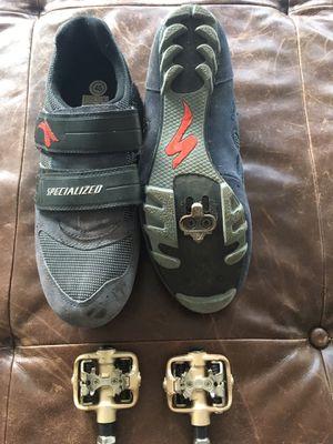 Specialized Mountain Bike Shoes w/ SPD Pedals, men's size 11 for Sale in Arlington, VA