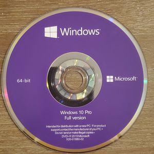 Windows 10 pro 64 bit / 32 bit oem dvd + product key for Sale in Orlando, FL