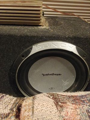 Punch subwoofers and power acoustik 600 watt amp for Sale in Cleveland, OH