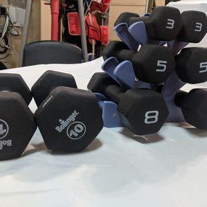 52 LB Set Neoprene Coated Dumbbells for Sale in Snohomish, WA