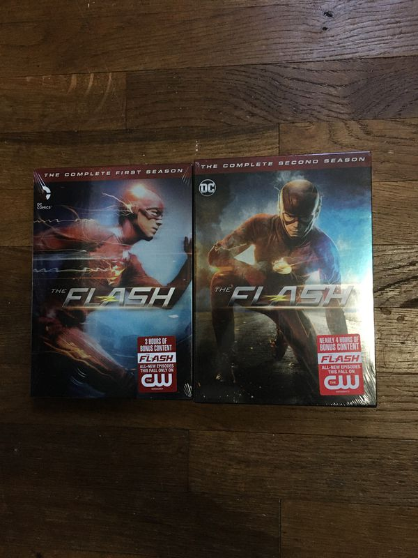 The Flash seasons 1 and 2 on DVD Brand New, Still sealed