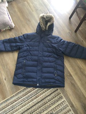 Mens Boundary Pass Down Parka Jacket Eddie Bauer Men's Boundary Pass Quilted Down Parka - XL - for Sale in San Leandro, CA