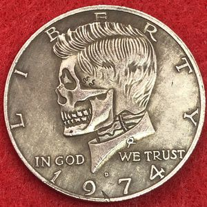 Skul Half Dollar Art Coin. Tibetan Silver Coin. First $20 Offer Automatically Accepted. Shipped Same Day for Sale in Oregon City, OR