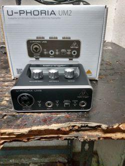 Behringer U-Phoria UM2 2X2 USB Audio Interface for Sale in Stockton, CA
