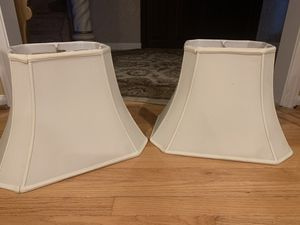 Set of very sturdy, off-white lamp shades for Sale in Montclair, NJ