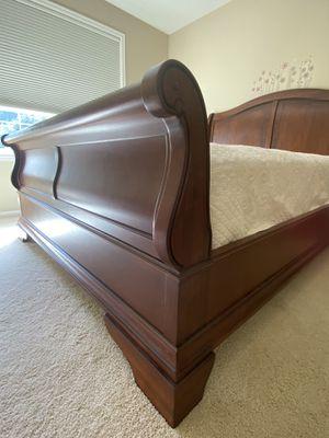 Bedroom set: Queen bed, mattress, 2 nightstands for Sale in Redmond, WA