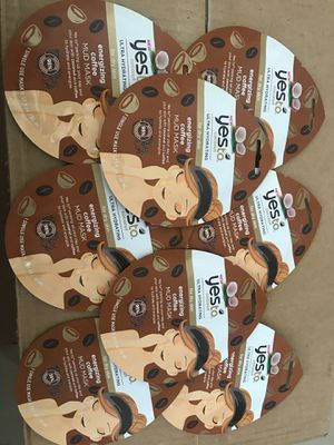 8x Yes To Coconut Single Use Mud Face Mask - .33oz for Sale in Miami, FL