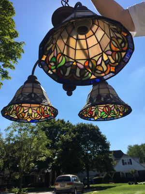 Stained glass light fixture for Sale in Westmont, IL
