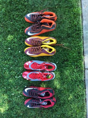 Nike alpha and Tommy ARMOUR spine football and baseball cleats for Sale in Kingsburg, CA