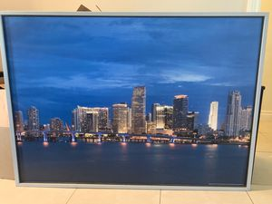 Large framed picture Miami skyline for Sale in Tamarac, FL