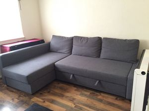 Sectional sleeper sofa with storage for Sale in Silver Spring, MD