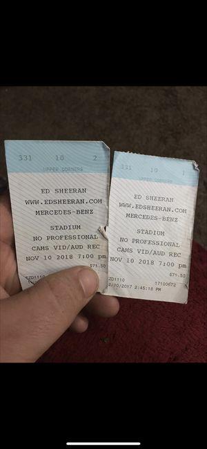 Ed Sheeran tickets next Friday night asking $100 each obo for Sale in Macon, GA