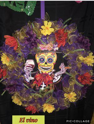 Unique Día de los muertos wreaths for sale ! Get yours before they're gone🙂 for Sale in Antioch, CA