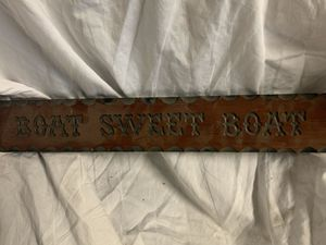 Boat Sweet Boat Sign for Sale in Madera, CA