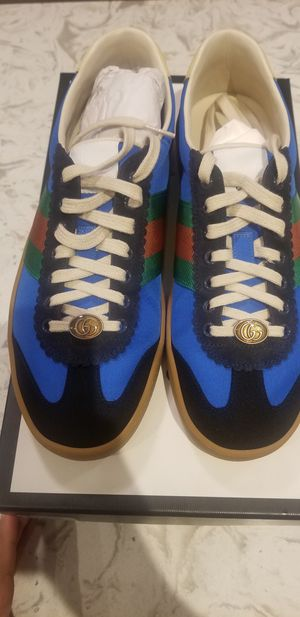 "Gucci G74 Nylon Sneaker ""Bright Blue"" Size 9 Men for Sale in Forest Heights, MD"