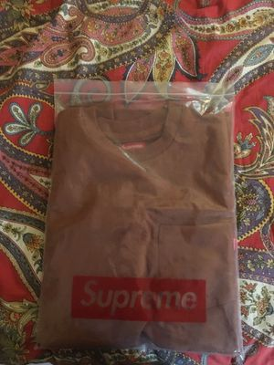 Supreme brown pocket tee for Sale in Raleigh, NC